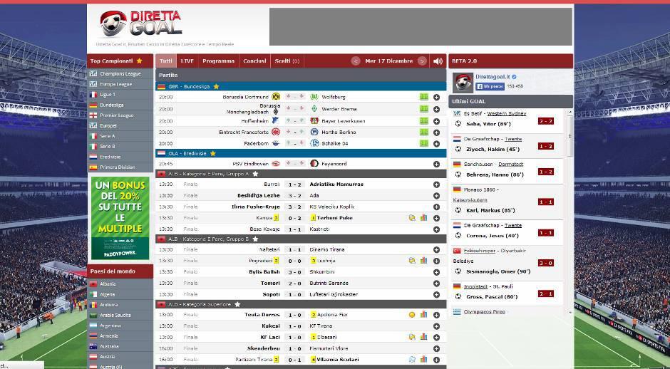 Calcio Livescore