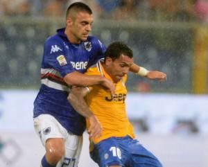 Mirko Eramo, qui contro Tevez (getty images)