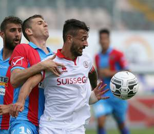 Catania-Bari dell'andata (getty images)