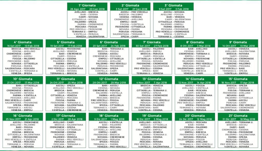 Serie A Calendario Completo.Serie B Il Sorteggio Del Calendario In Diretta Si Parte