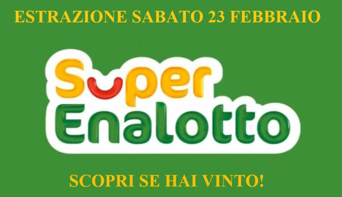 Estrazione SuperEnalotto 23 febbraio