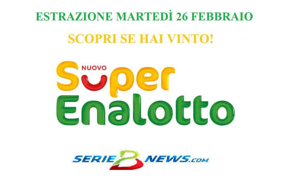 Estrazione SuperEnalotto 26 febbraio