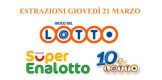 SuperEnalotto 21 marzo