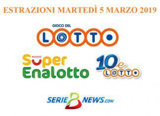Lotto SuperEnalotto 5 marzo