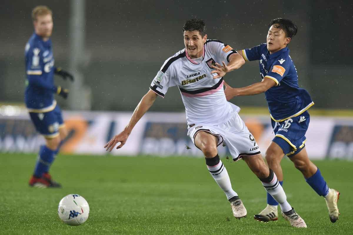 Palermo-Verona Moreo attaccante Lee attaccante