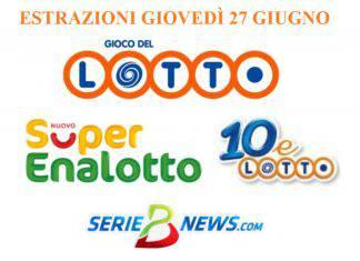 Lotto SuperEnalotto 27 giugno 2019