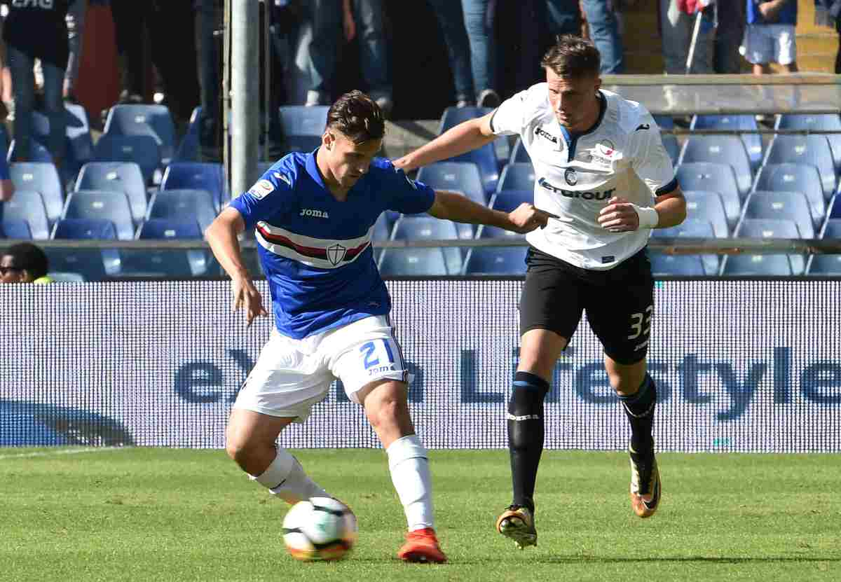 Verre e Hateboer in Sampdoria-Atalanta