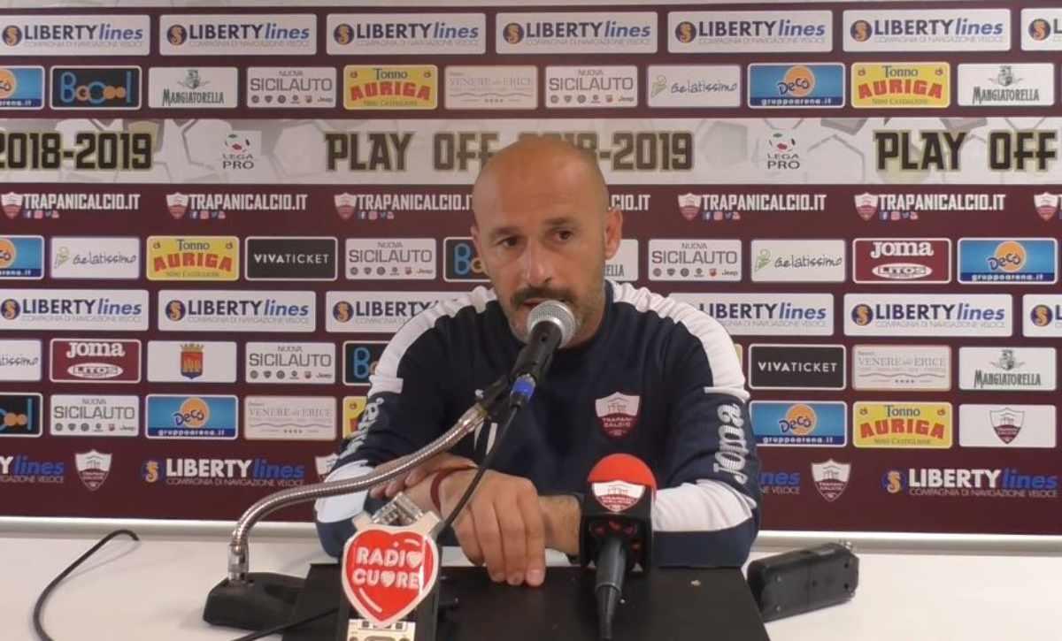 Vincenzo Italiano in conferenza Trapani