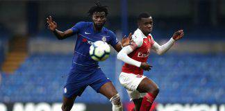 Joseph Colley ed Eddie Nketiah Chelsea Arsenal