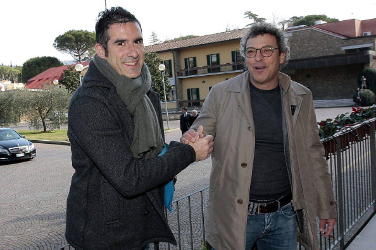Cristiano Lucarelli con Francesco Moriero (Getty Images)