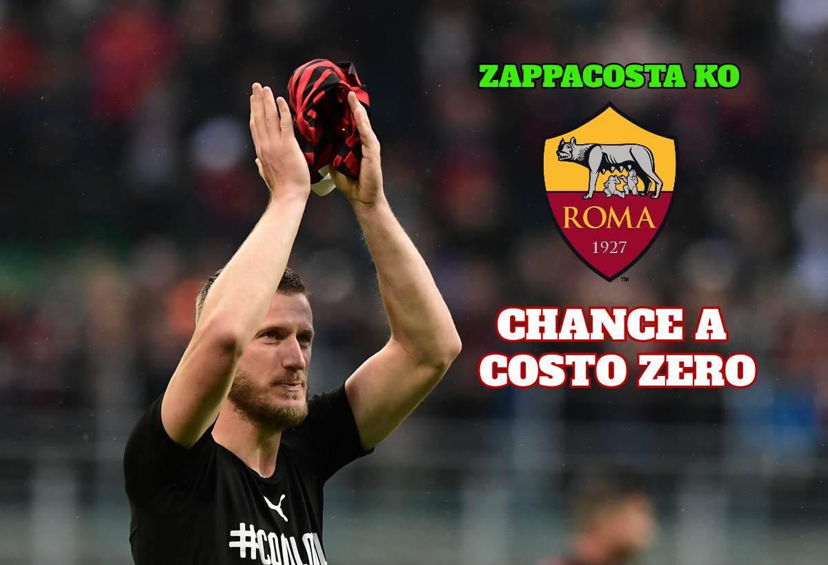 Roma, Zappacosta ko: chance Abate