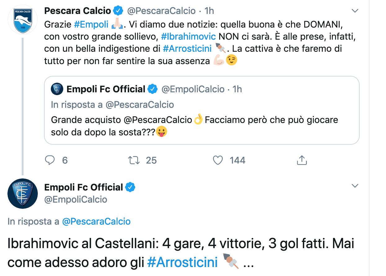 Ibrahimovic Empoli Pescara