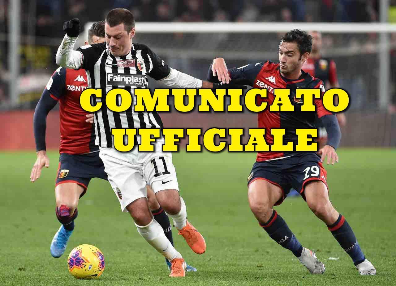 Calciomercato Ascoli Ninkovic Bari comunicato ufficiale Serie B