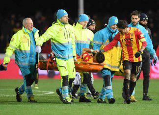 Benevento infortunio Antei intervento tempi recupero