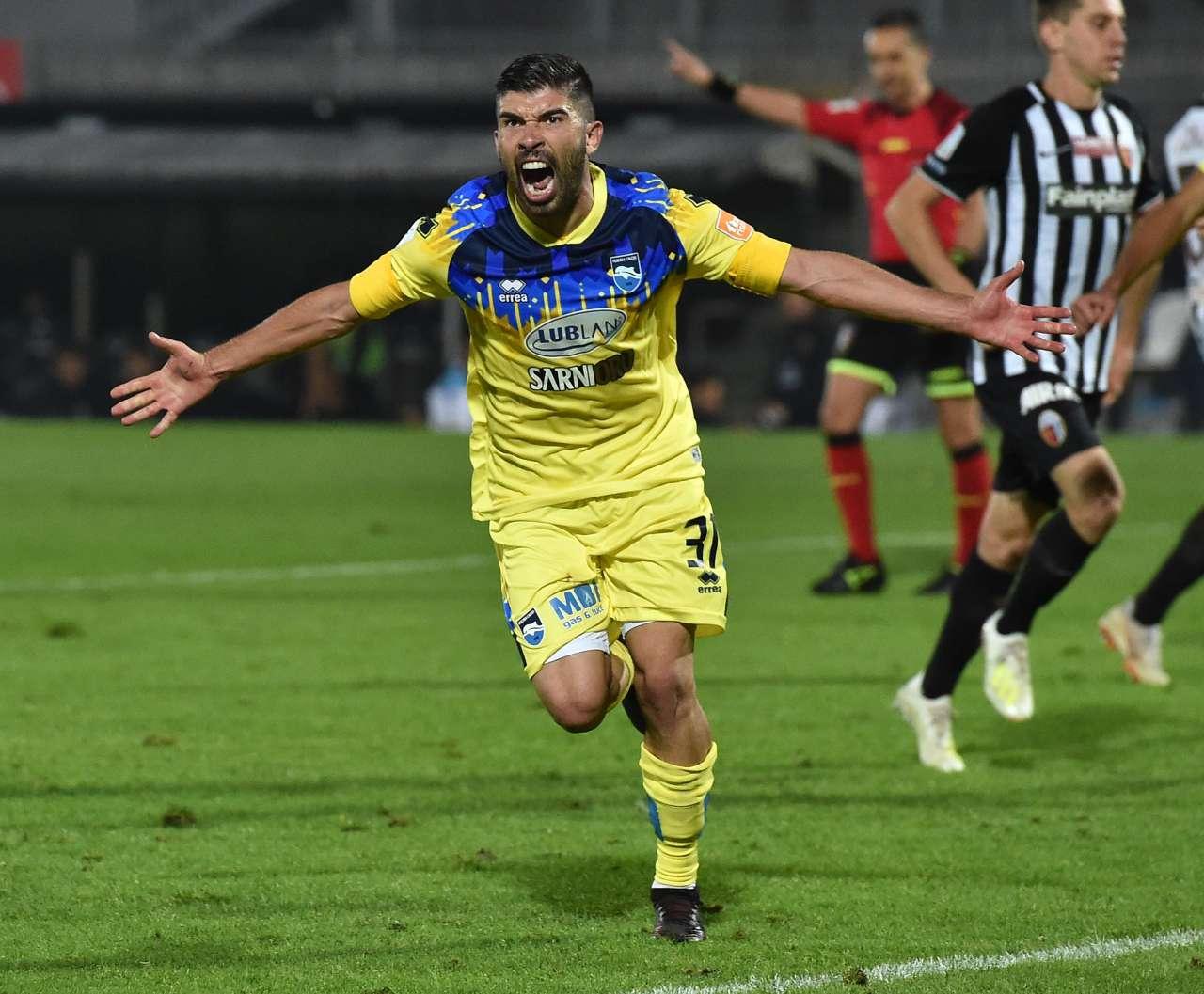 Pescara infortunio Busellato frattura coccige