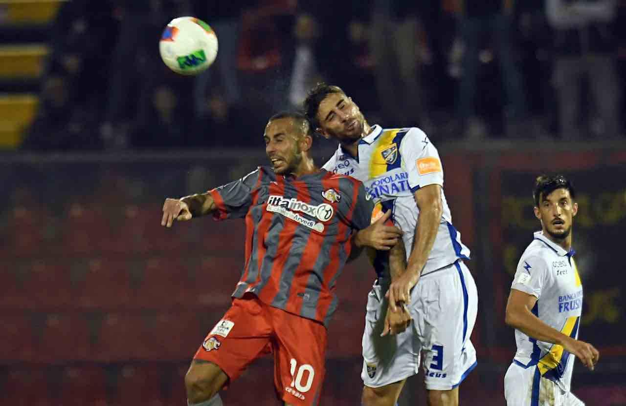 Frosinone Capuano infortunio Entella Serie B