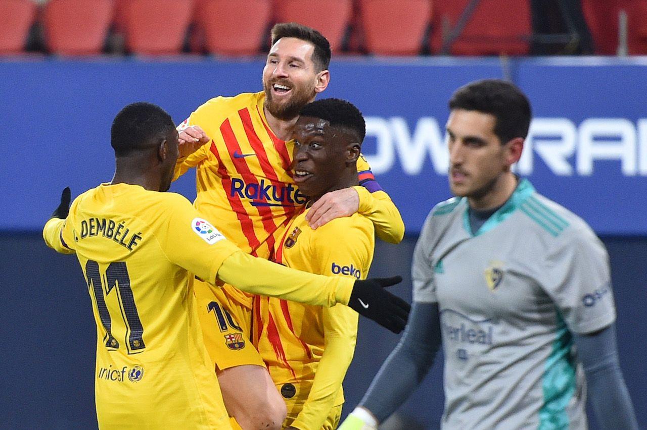 Moriba Barcellona esulta