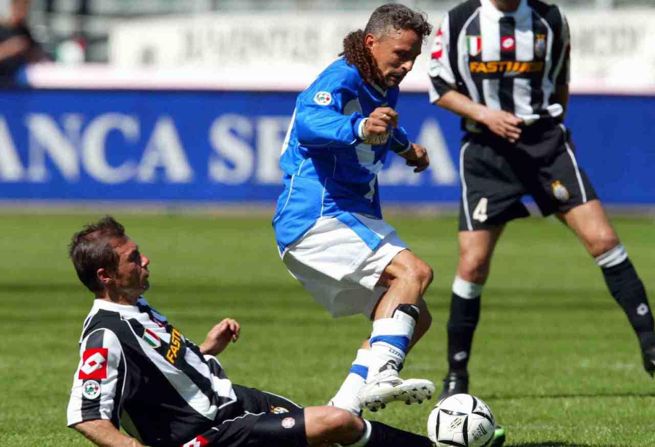 Roberto Baggio col Brescia © Getty Images