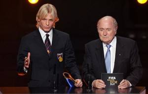 Farina con Blatter (Getty images)